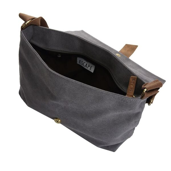 6c6288885c Canvas Messenger Bag – Dark Grey – Silver Rhythm